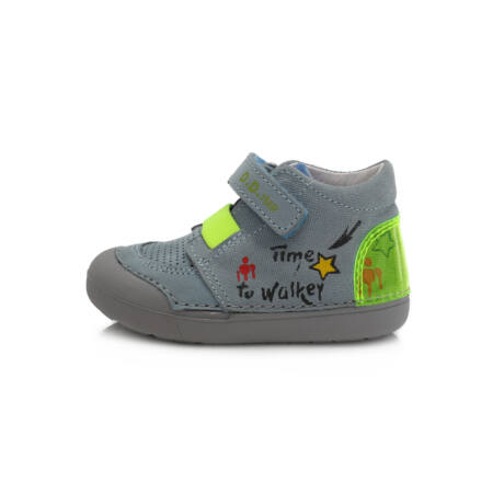 D.D.Step kék Barefoot átmeneti lány bőr cipő tépőzárral